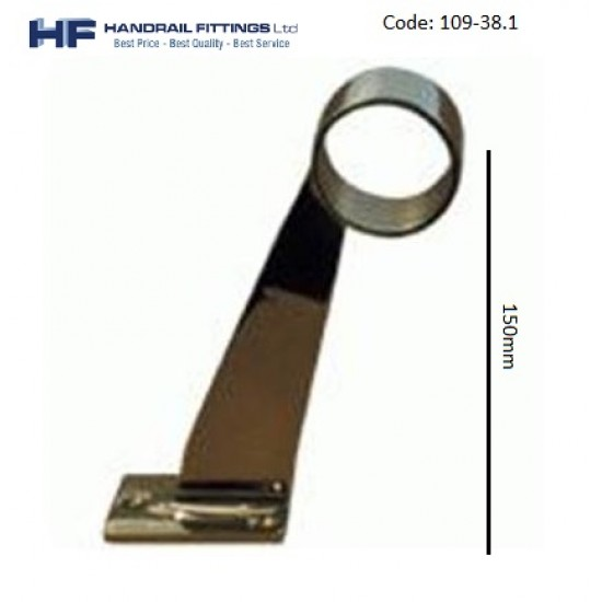 109 Brass Footrail Bracket