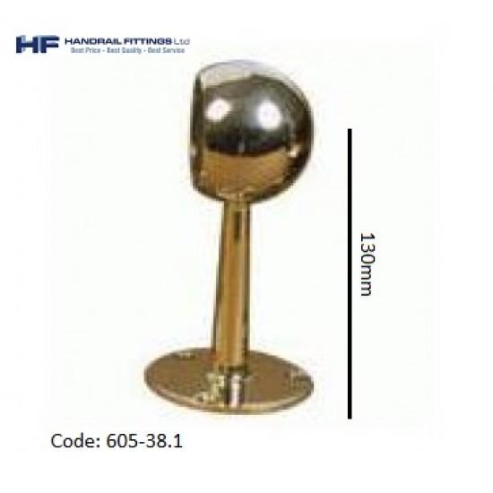 605 Brass End Post - Tall