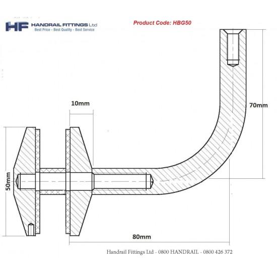 Trivoli Glaze Handrail Bracket