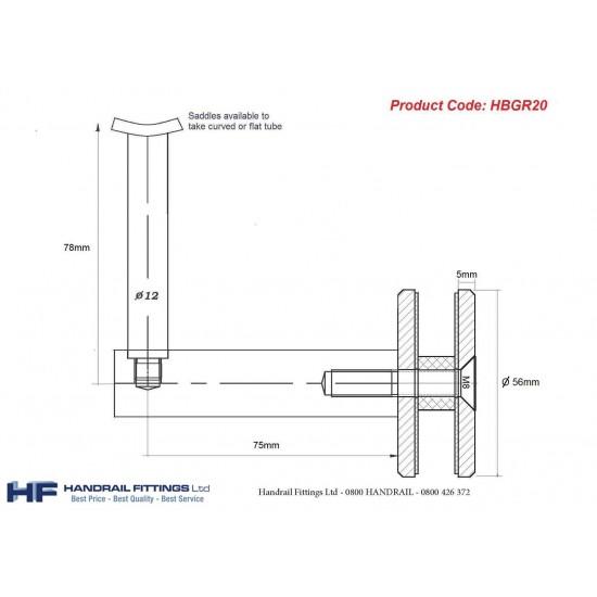 Modena Glaze Handrail Bracket